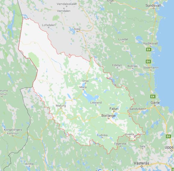 Karta Dalarna